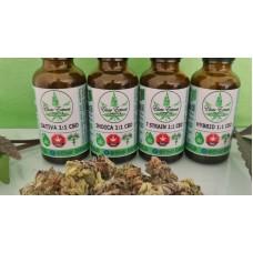 FECO Cannabis Drops - 30ml - Sativa 1:1 CBD
