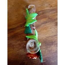 Handmade Glass Steamroller Pipe, Rose