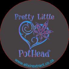 Pretty Little Pothead 80x80mm Sticker